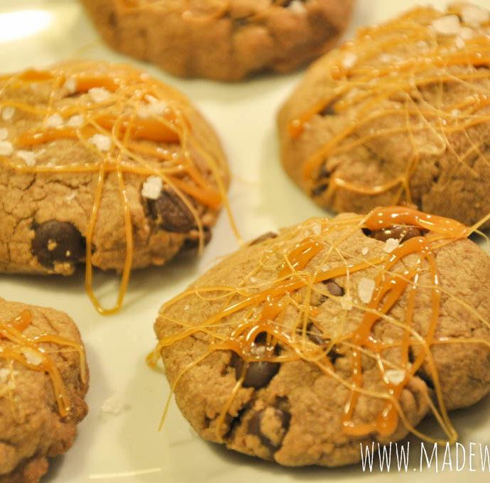 Schoko-Karamell-Cookies mit Meersalz