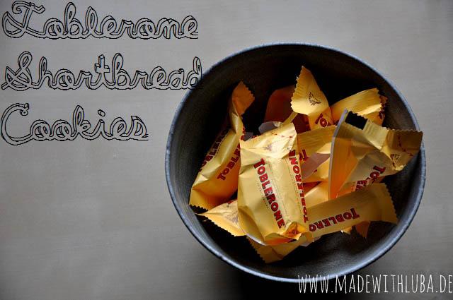 Schälchen mit Toblerone Keksen