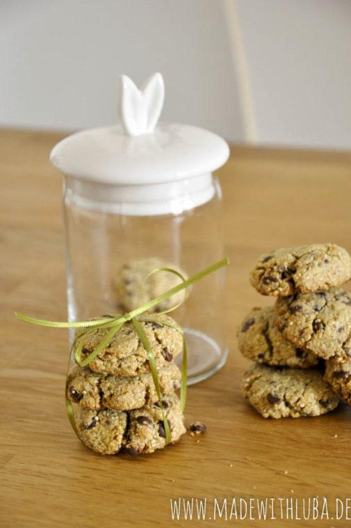 Quinoa Kekse mit Datteln & Schokotropfen