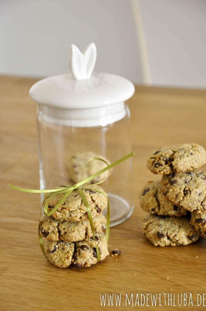 Quinoa Kekse hübsch angerichtet