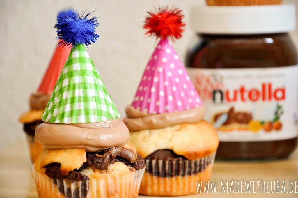 Nutella Muffins mit Nutella Glas