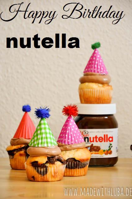 Nutella Muffins mit Nutella Frosting – 50 Jahre Nutella!