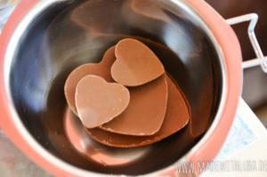 Schokolade im Wasserbad