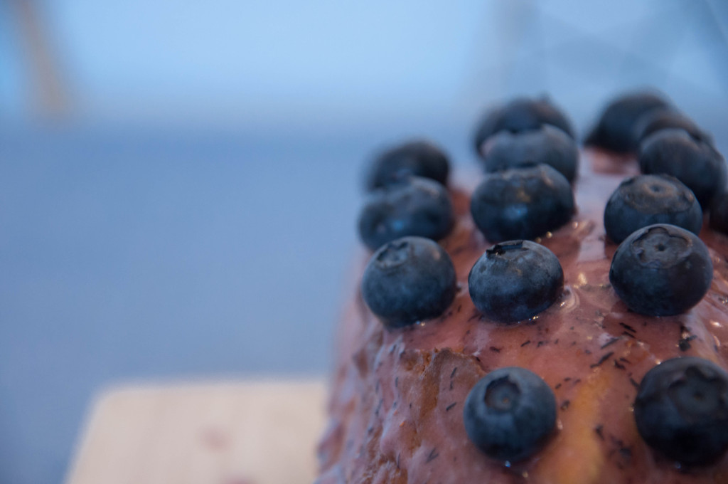 Buttermilchkuchen mit Blaubeeren