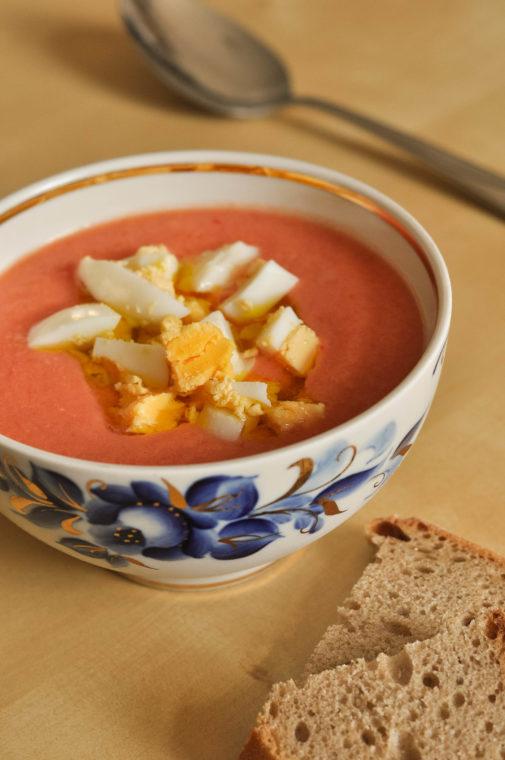 Salmorejo – eine spanische kalte Tomatensuppe