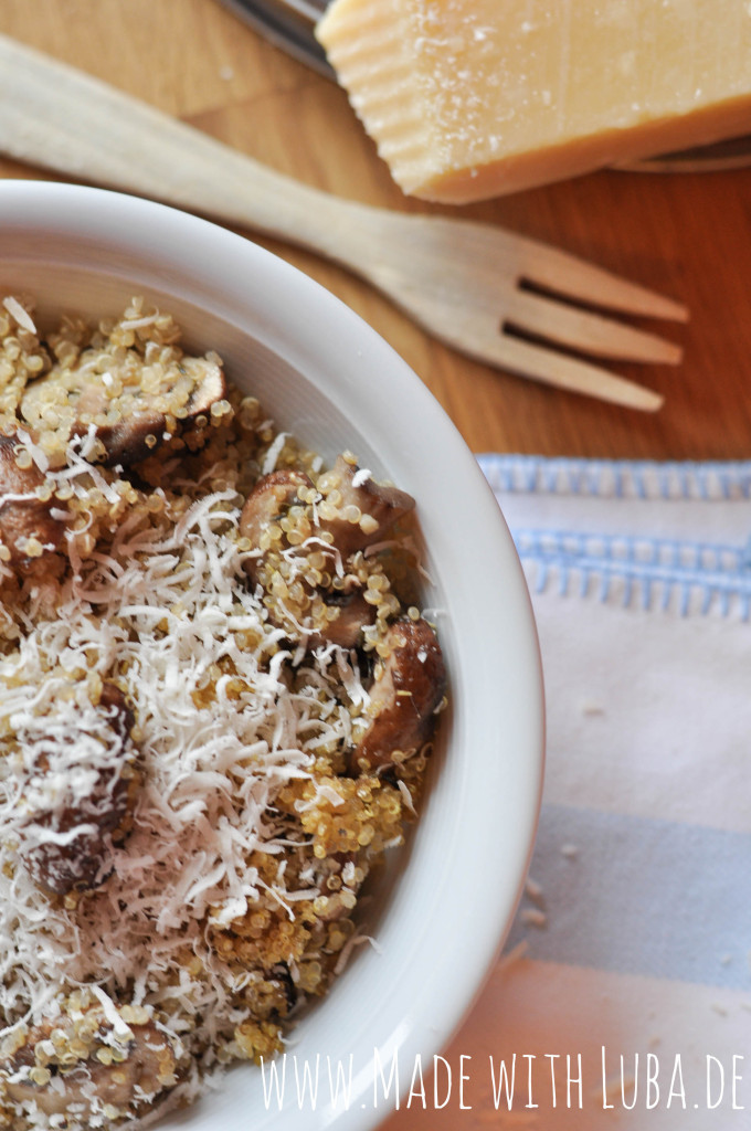 Quinoa-Champignons-Pfanne