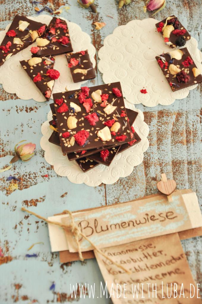 Valentinas Schokolade Blumenwiese