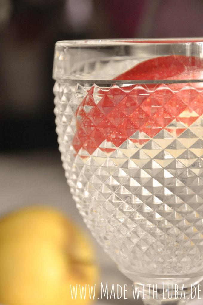 Gin Tonic mit Apfel