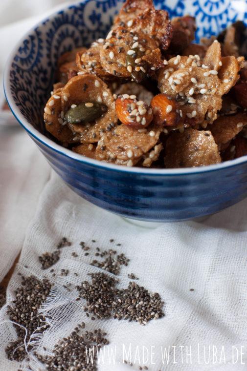 Nuss-Mix mit Honig und Senf – eine leckere Alternative zu Chips