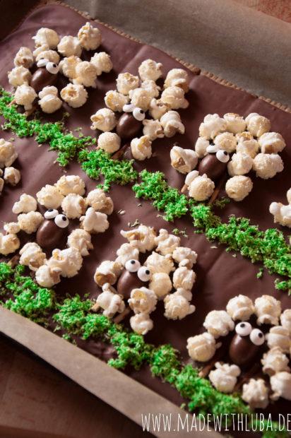 Schokoladentafeln Schäfchen Ostern