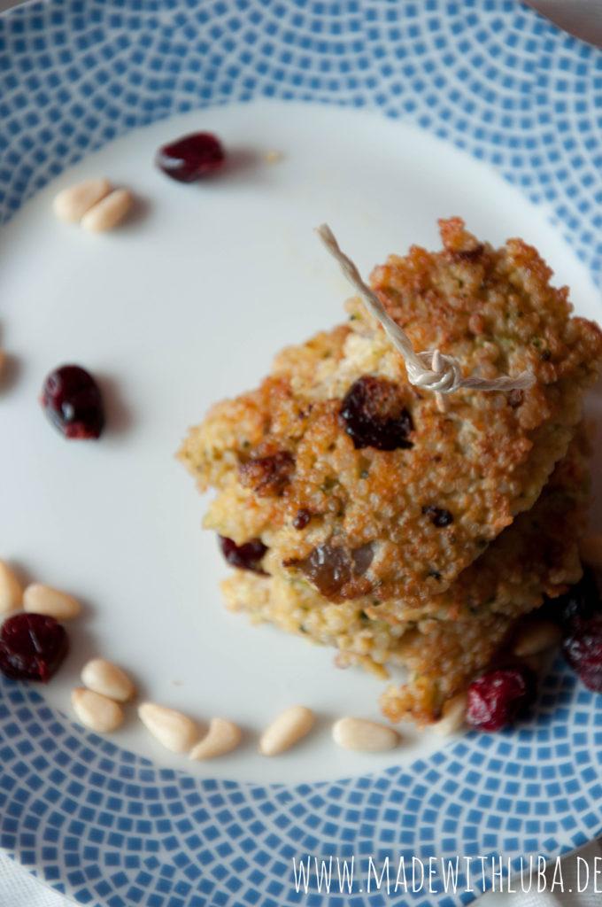 Quinoa Puffer Nahaufnahme von oben