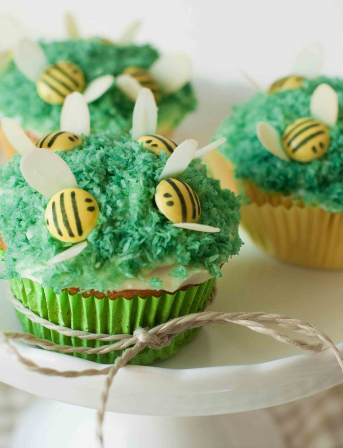 Bienchen-Cupcakes mit Smarties