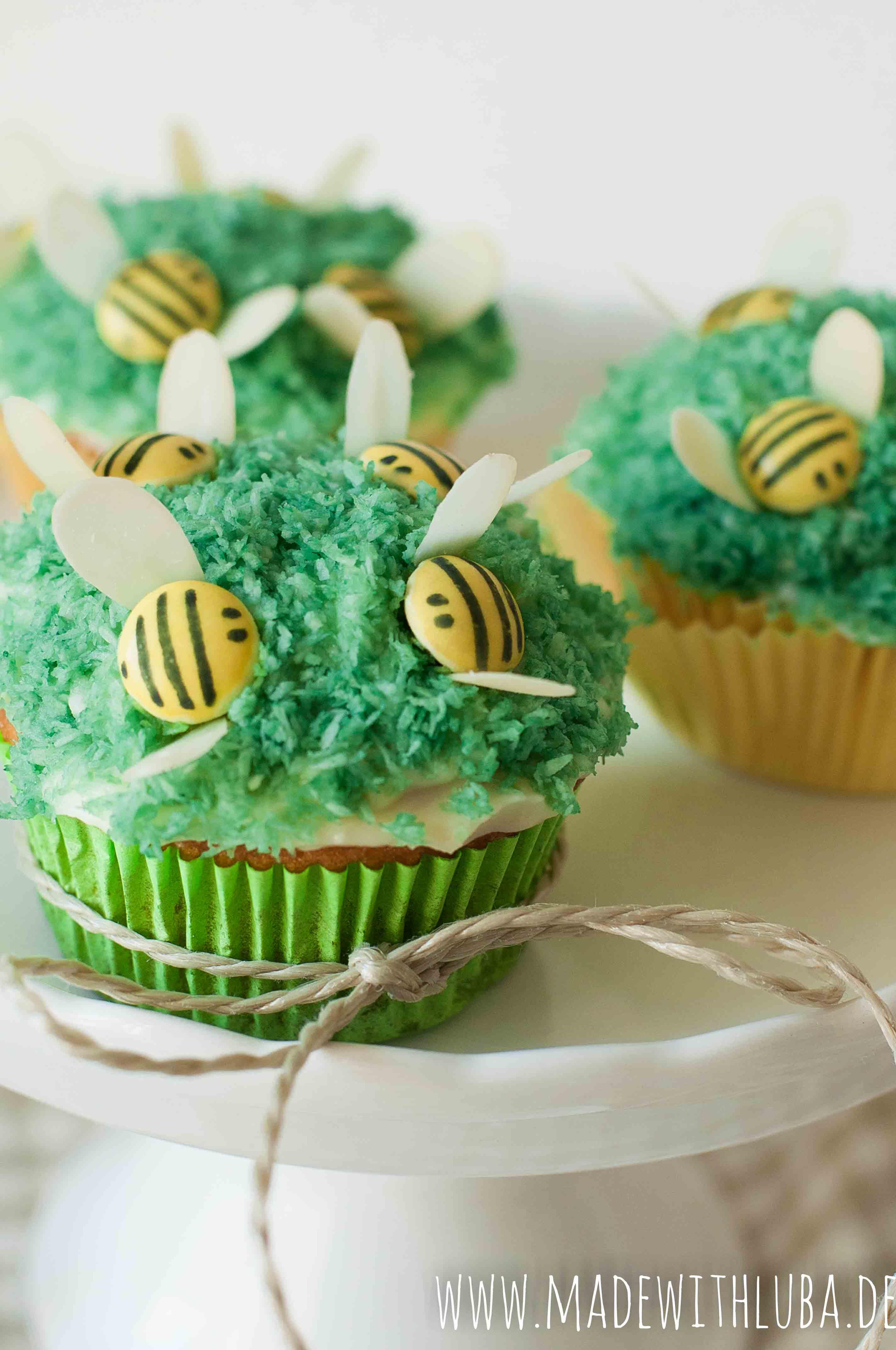 Bienchen Cupcakes mit Smarties