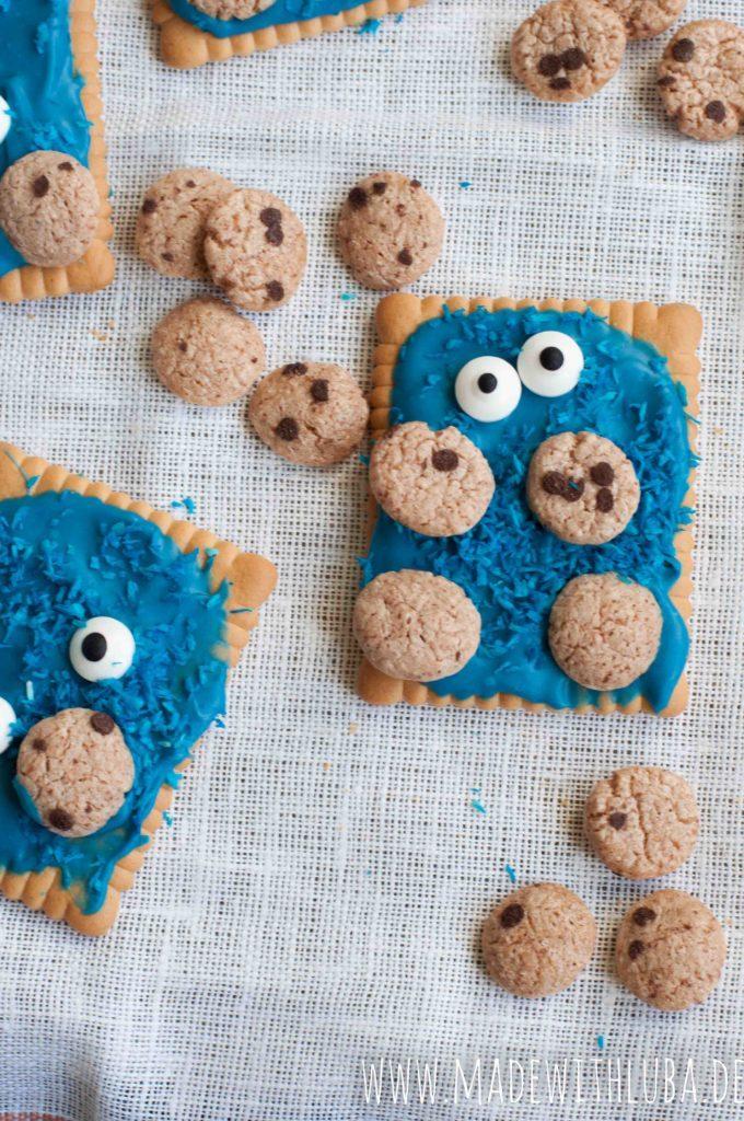 Krümmelmonsterkeks Nahaufnahme mit Cookie Crisps