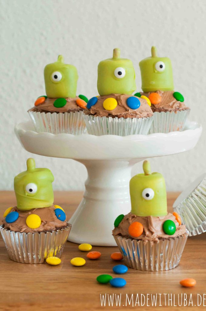 Alien Cupcakes Version ohne Mund
