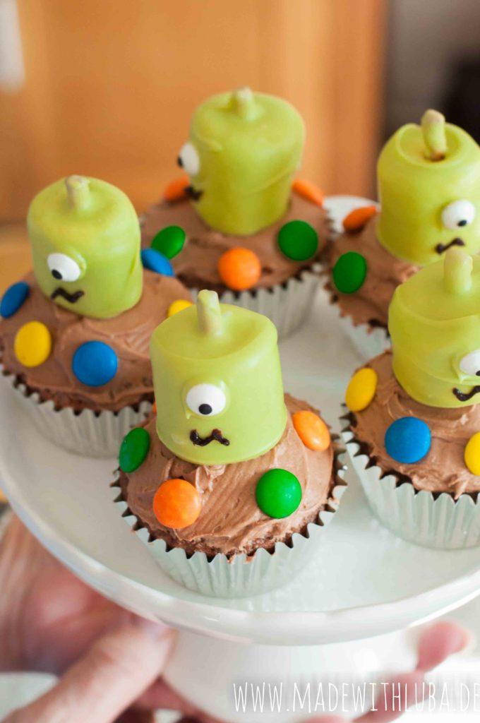 Alien Cupcakes Ansicht von oben