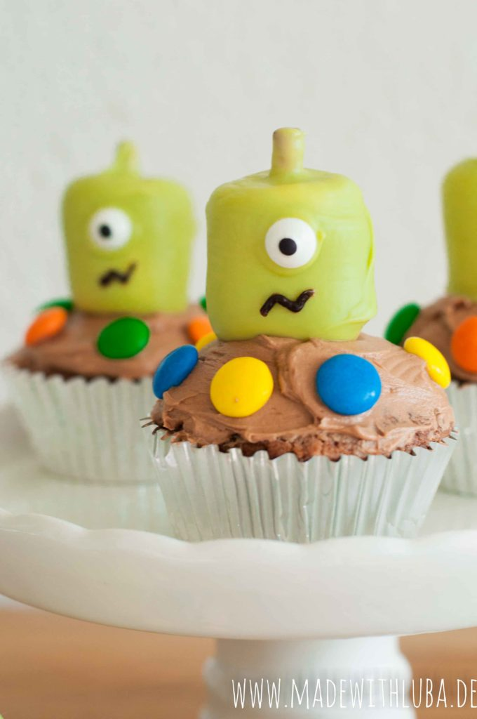 Alien Cupcakes Nahaufnahme