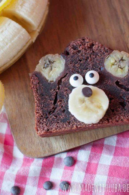 Schokoladiges Bananabread – Schokoladiger Bananenspaß mit Bärchen Bob