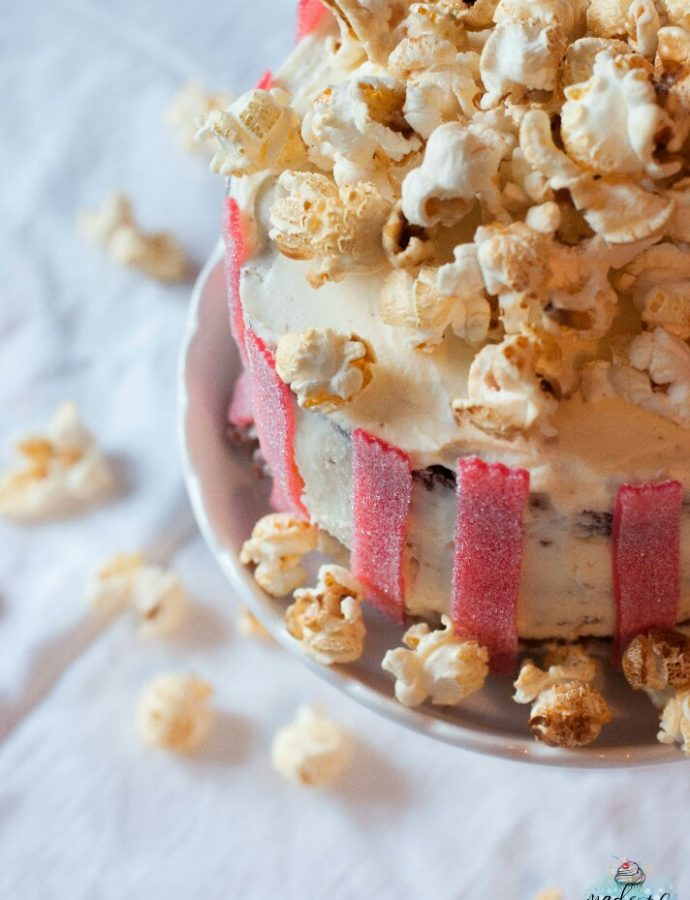 Leckeres Schokotörtchen im Popcornbecher-Style