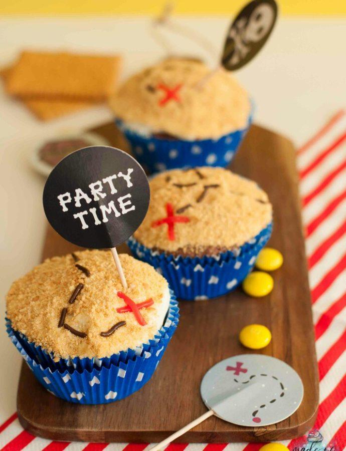 Piraten Piñata Cupcakes – finde den Schatz!
