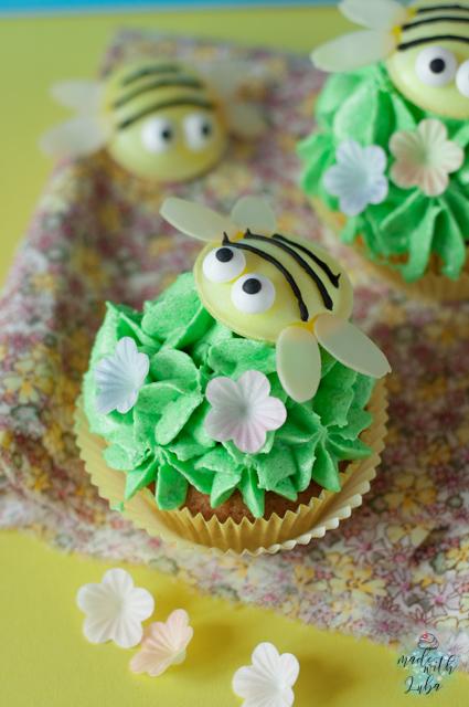 Süße Bienchen-Cupcakes mit leckerem Buttercream-Frosting