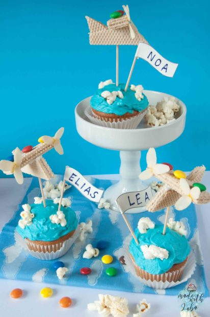 anzeige flugzeug cupcakes und dein kindergeburtstag hebt ab. Black Bedroom Furniture Sets. Home Design Ideas