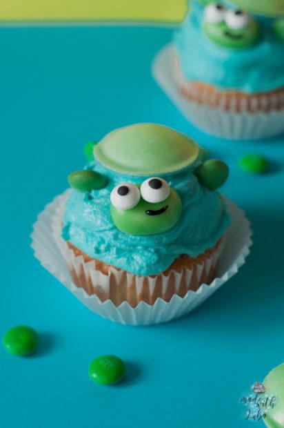 Schildkröten Cupcake Nahaufnahme