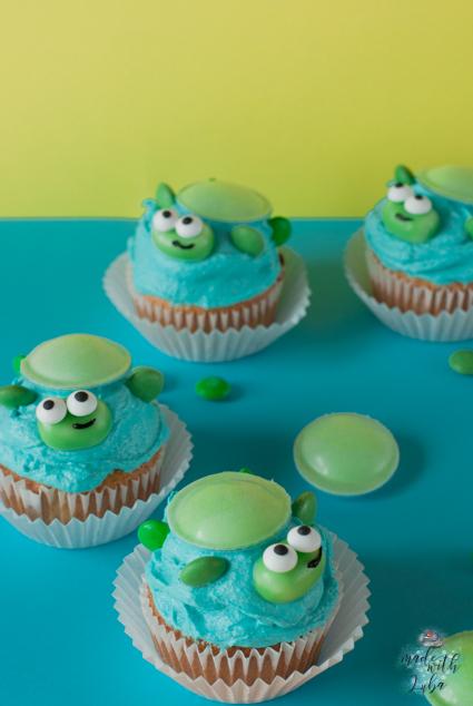 Schildkröten-Cupcakes für deine lustige Unterwasserwelt-Party