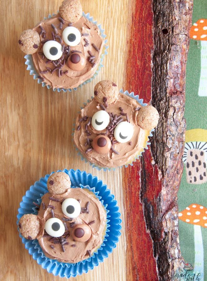 Schokoladen Teddybär-Cupcakes – Gastbeitrag bei Tollabea