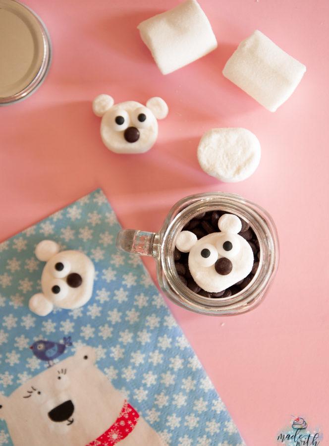 Niedliche Marshmallow Eisbären – Ein schnelles Geschenk aus der Küche