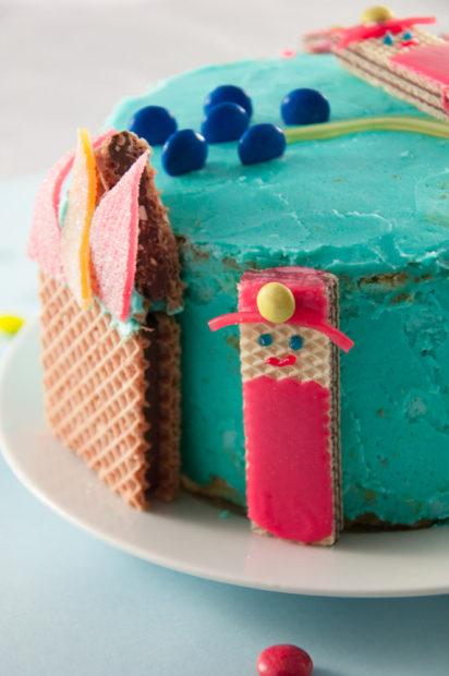 Feuerwehrmann Kuchen. Detailansicht.