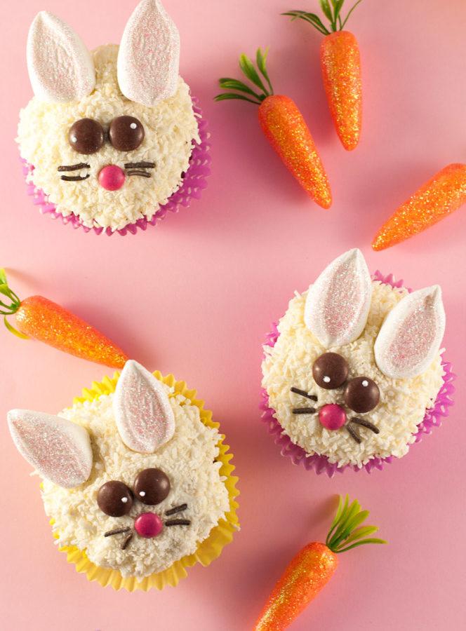 Verrückte Osterhasen Cupcakes