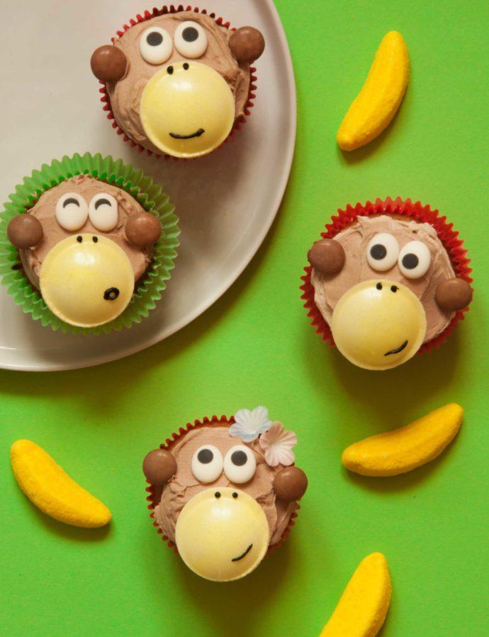 Lustige Affenbande-Cupcakes – Wer hat die Kokosnuss geklaut??