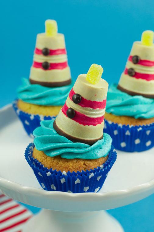 Leuchtturm Cupcakes – perfekt für deine Sommer-Mottoparty!