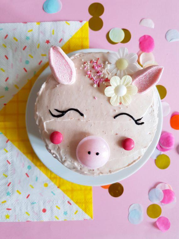 Rosa Schweinchen Kuchen