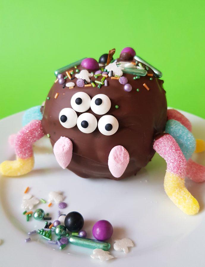 Werbung Spinnenalarm – Fruchtig schokoladiges Halloween Give away